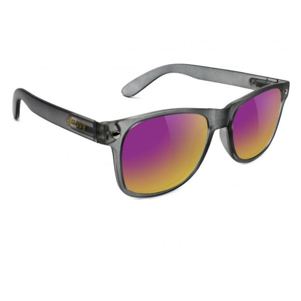 画像1: glassy sunhaters (グラッシー) LEONARD  DARK.GREY / PURPLE MIRROR (1)