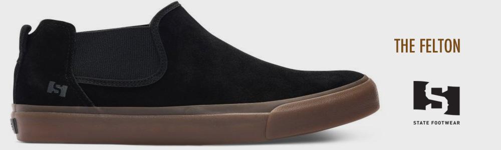 STATE FOOTWEAR FELTON BLACK/GUM