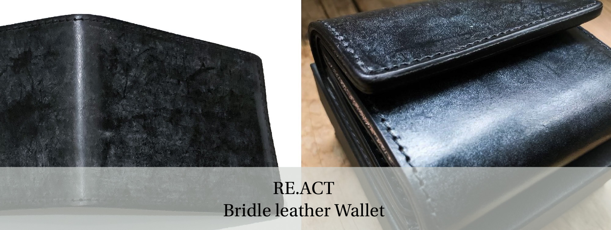 RE.ACT(リアクト) Bridle leather Billfold Wallet