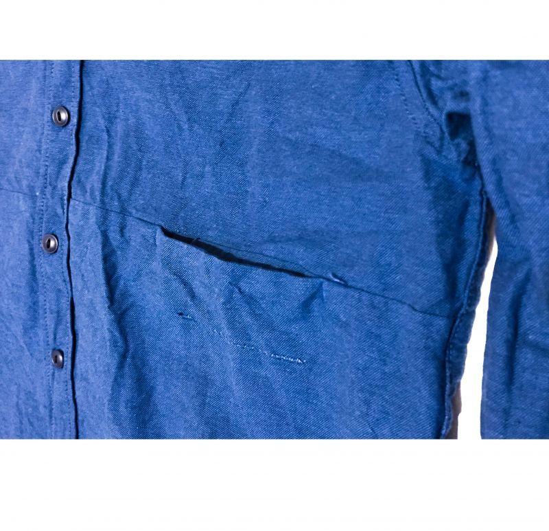 レミーラ オックスポートシャツ ブルーインディゴ