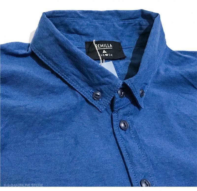 remilla オックスポートシャツ ブルーインディゴ