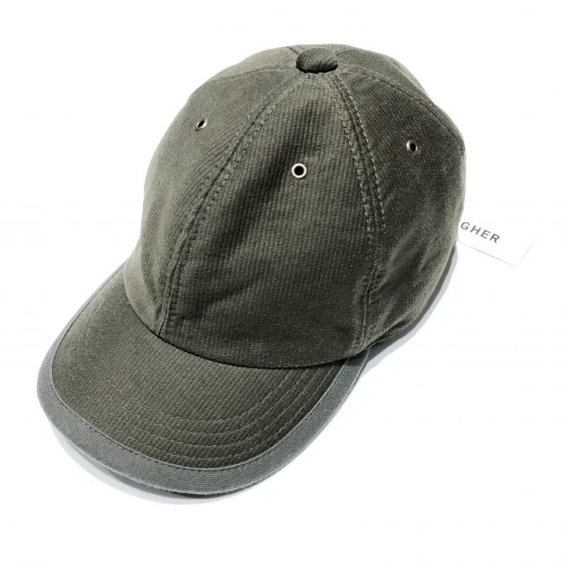 HIGHER (ハイアー)のデッキピケ シャロー CAP 色はオリーブ