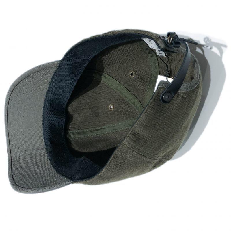 HIGHER (ハイアー)のデッキピケ シャロー CAP カラーはオリーブ