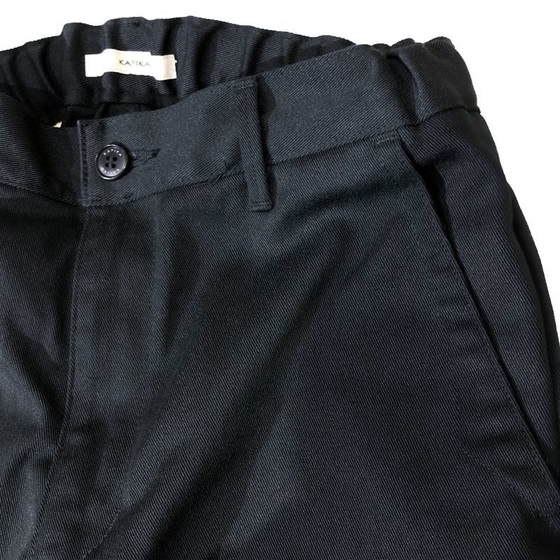 KAFIKA(カフィカ) TWILL LOUNGE TROUSERS  ブラック