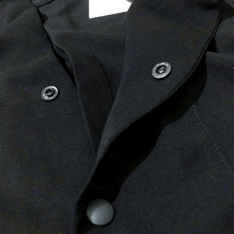 マニュアルアルファベットのTWILL RAYON V-NECK SHIRTS                    ブラック
