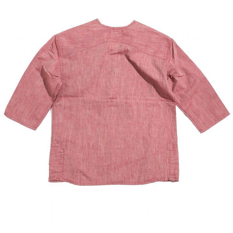 remillaの綿麻シャンブレーダボ7分シャツ  サンドレッド  M