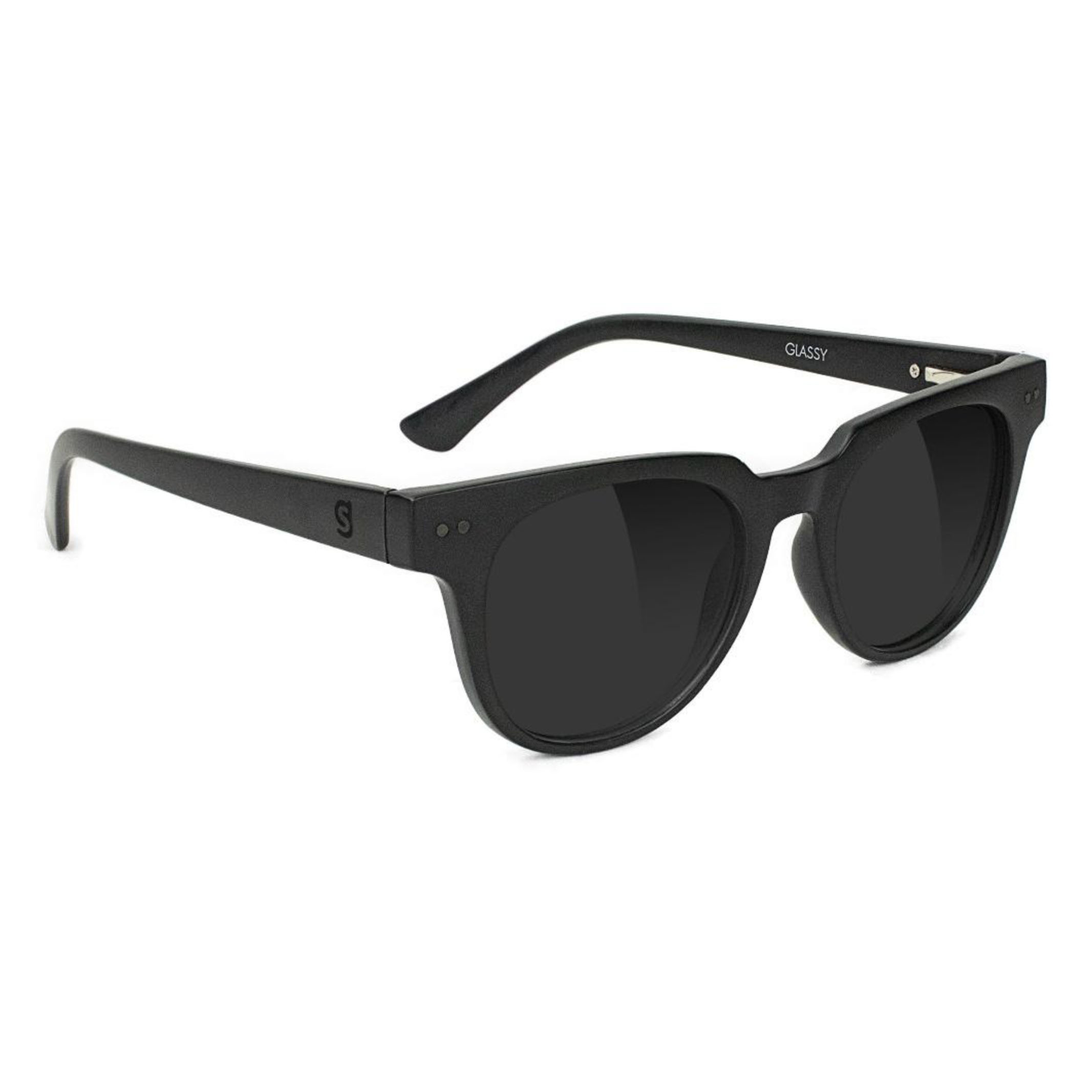 glassy sunhaters CARRIE PLUS  BLACK POLARIZED