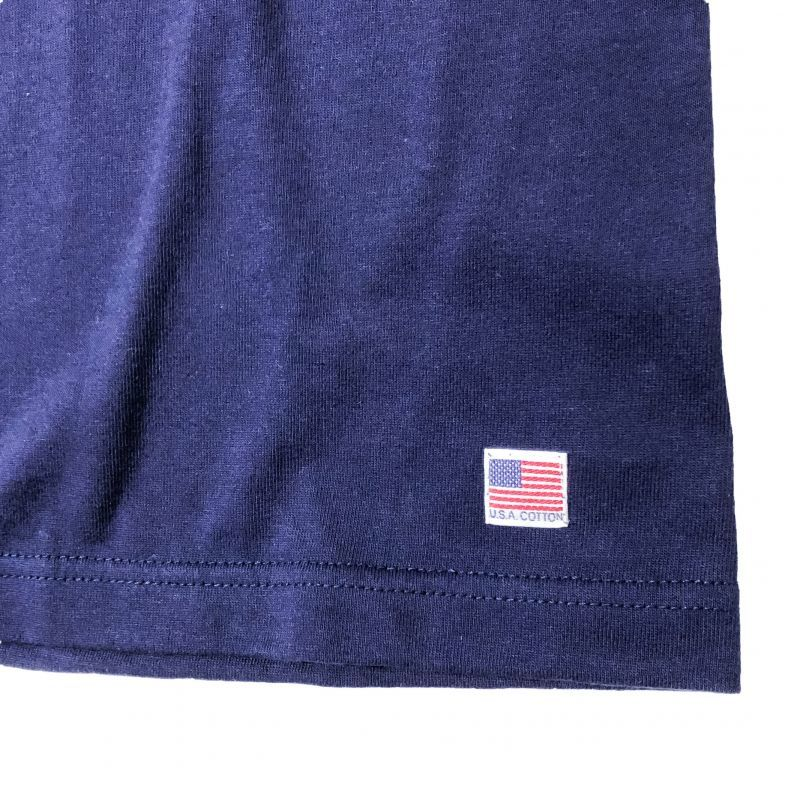 modem designのUSA Cotton Pocket Tee ネイビー
