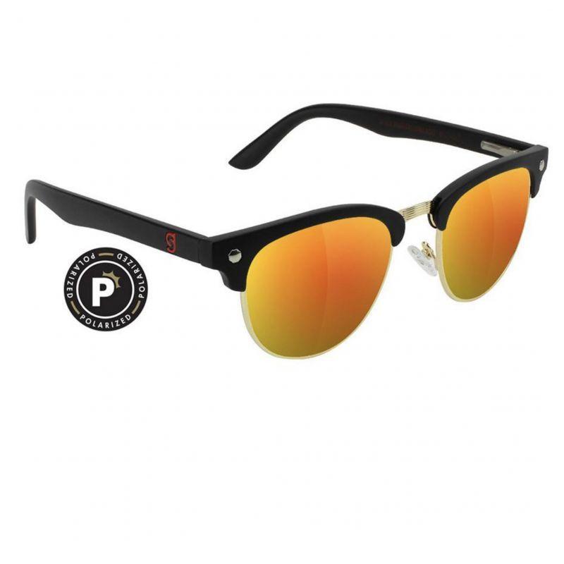 glassy sunhaters (グラッシー)   MORRISON BLACK/RED MIRROR POLARIZED