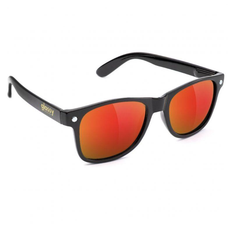 glassy sunhaters (グラッシー) LEONARD BLACK/RED MIRROR
