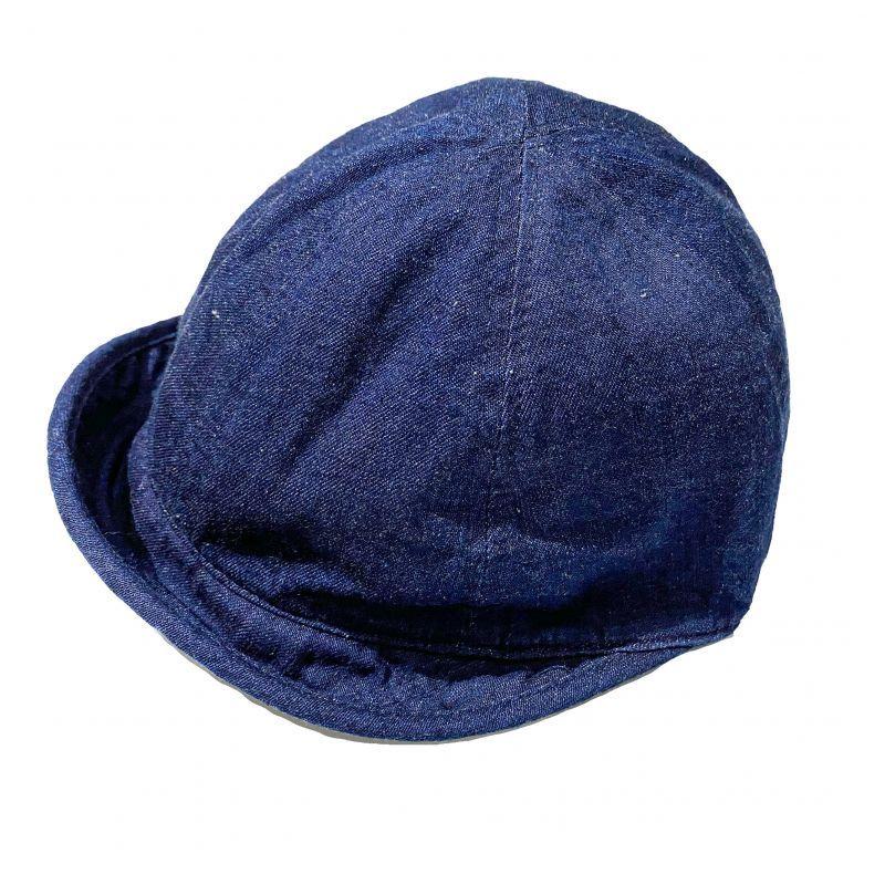 HIGHERのBEAK  CAP デニム素材 ネイビー