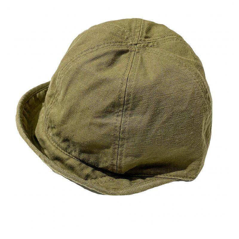 HIGHERのBEAK  CAP チノ素材 オリーブ