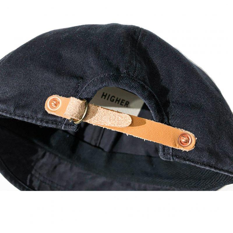 HIGHERのBEAK  CAP チノ素材 ブラック