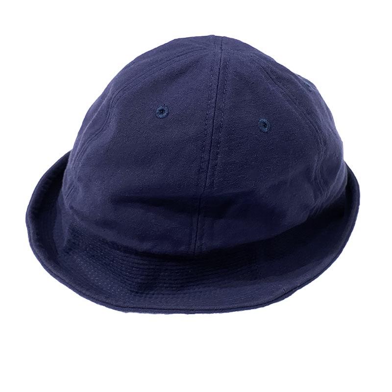 HIGHER (ハイアー)  C/N BACKSATIN SAILOR HAT  (バックサテンセーラーハット)  色はネイビー