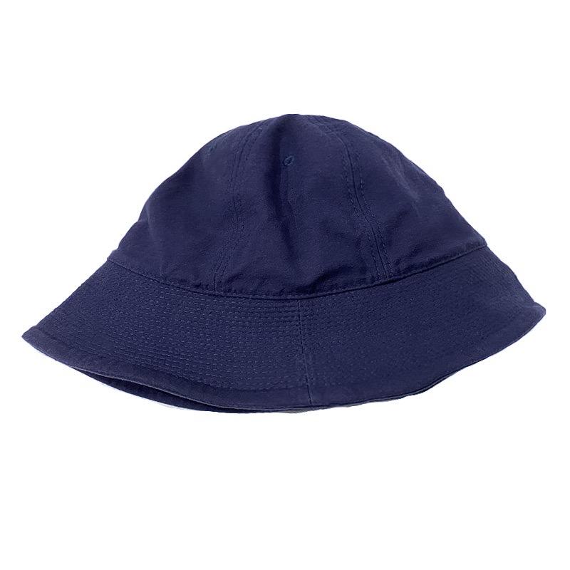 HIGHER (ハイアー)  C/N BACKSATIN SAILOR HAT  (バックサテンセーラーハット)  カラーはネイビー