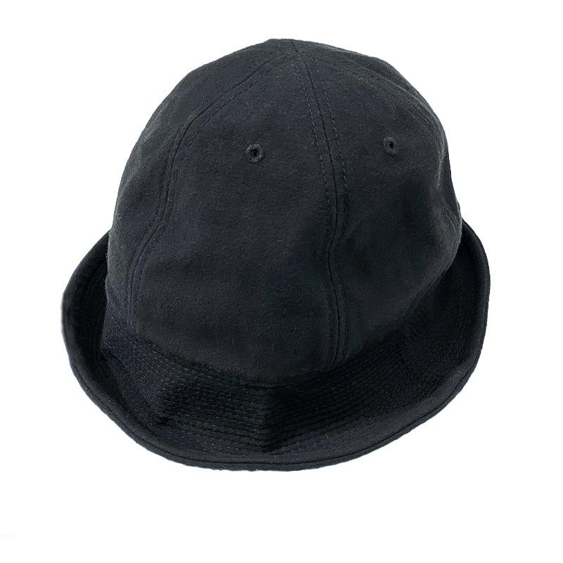 HIGHER (ハイアー)  C/N BACKSATIN SAILOR HAT  (バックサテンセーラーハット)  色はブラック