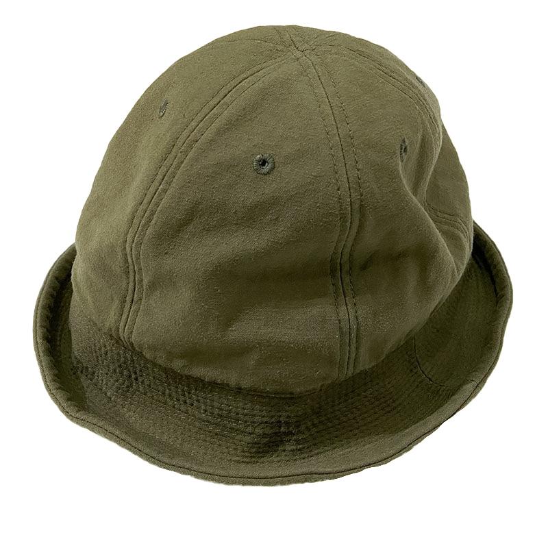 HIGHER (ハイアー)  C/N BACKSATIN SAILOR HAT  (バックサテンセーラーハット)  色はオリーブ