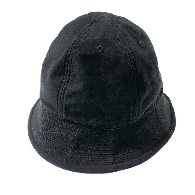 HIGHER (ハイアー)  C/N BACKSATIN SAILOR HAT  (バックサテンセーラーハット)  ブラック