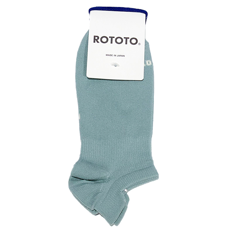 """ROTOTO  SNEAKER FOOT COVER  """"ORGANIC COTTON""""  ライトグリーン"""