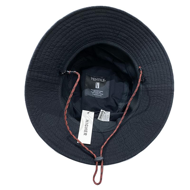 ハイアーのVENTILE FIELD  HAT  BLACK