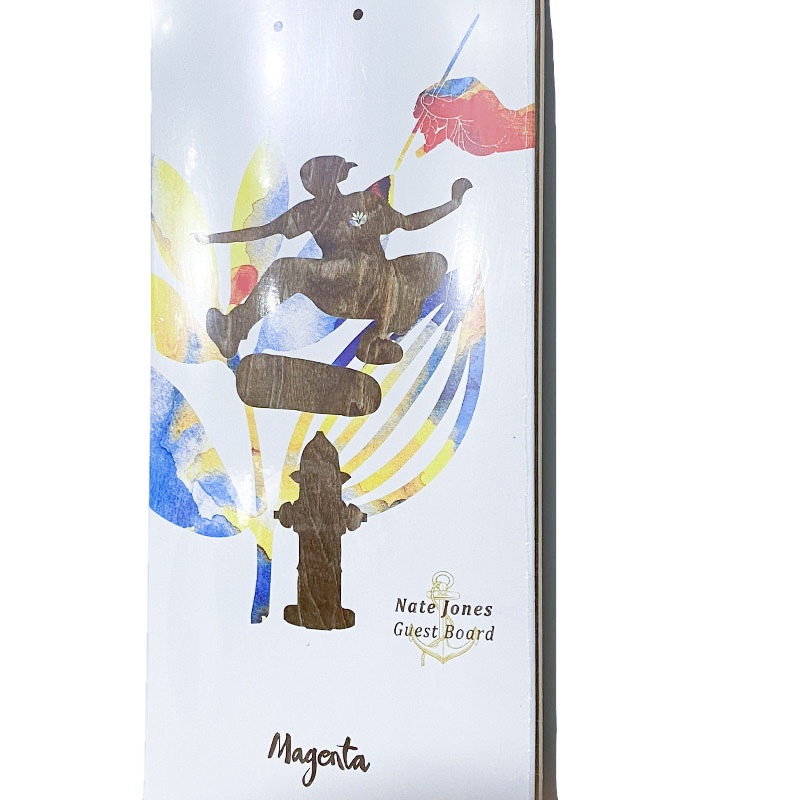 Magenta skate NATE JONES GUEST BORAD   8 deck