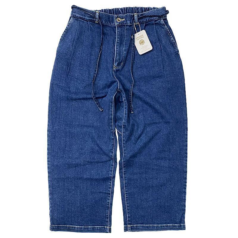 Devadurga (デバドゥルガ) NESSE WIDE DENIM PANTS  BLUE  (バイオストーンウォッシュ加工)